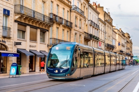Tram in Bordeaux, France