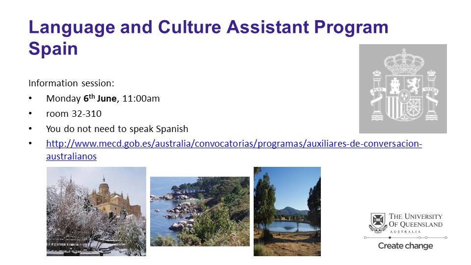 Spanish Ministry of Education - Language and Culture Assistants (English) for Australian citizens