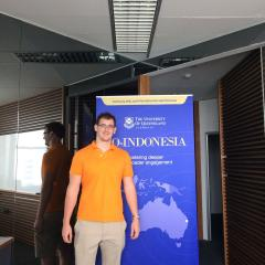 Alex Williams in the UQ Indonesia Office